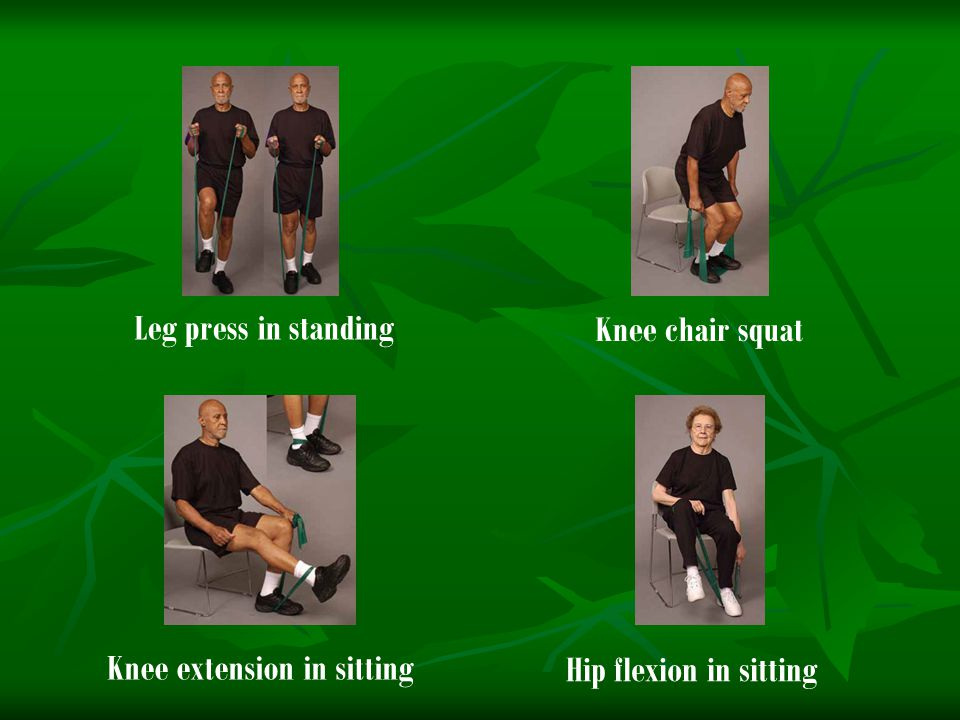 Knee extension in sitting