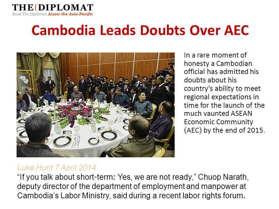 Cambodia Leads Doubts Over AEC