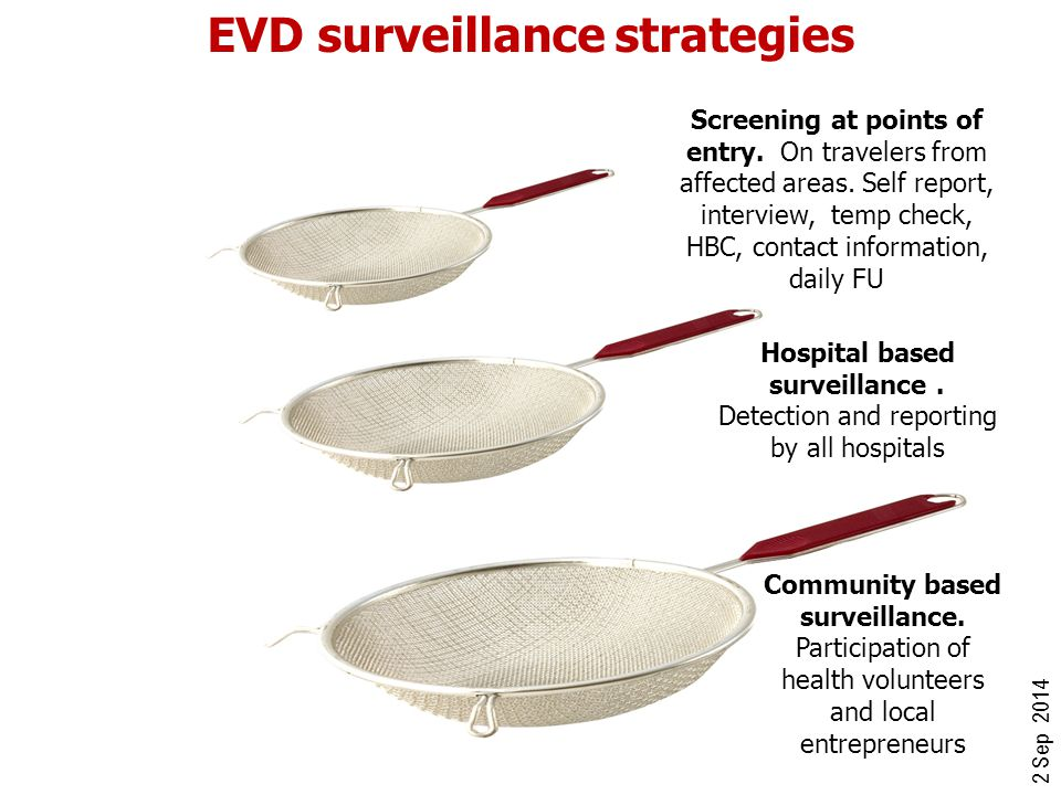 EVD surveillance strategies