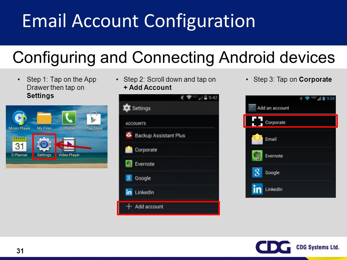 Configuring and Connecting Android devices