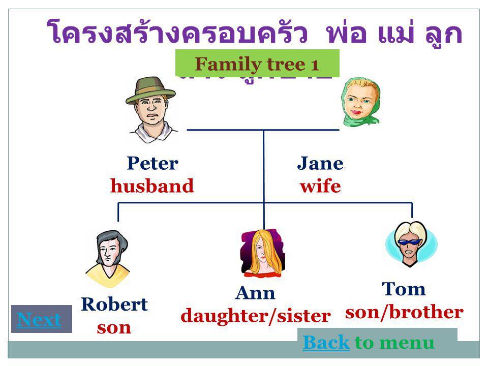 โครงสร้างครอบครัว พ่อ แม่ ลูกสาว ลูกชาย