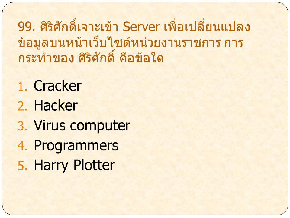Cracker Hacker Virus computer Programmers Harry Plotter