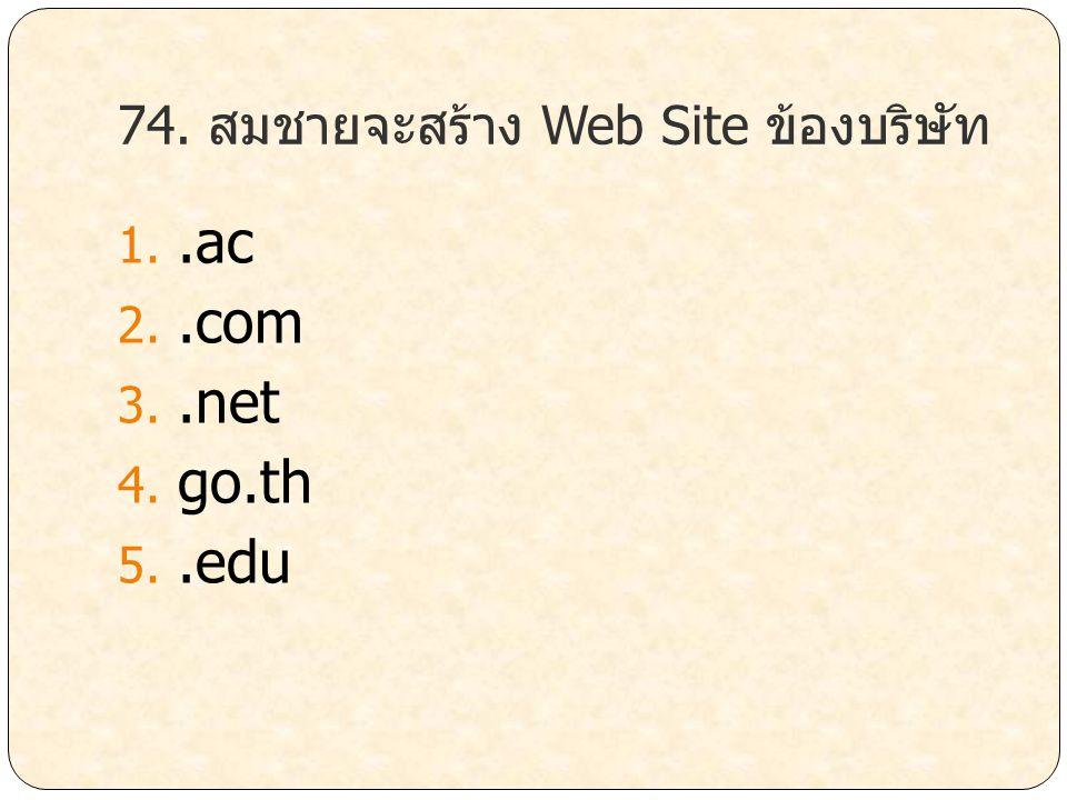 74. สมชายจะสร้าง Web Site ข้องบริษัท