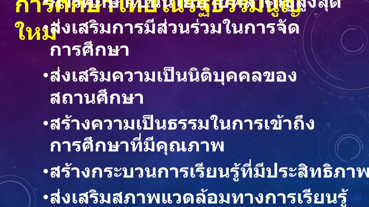 การศึกษาไทยในรัฐธรรมนูญใหม่