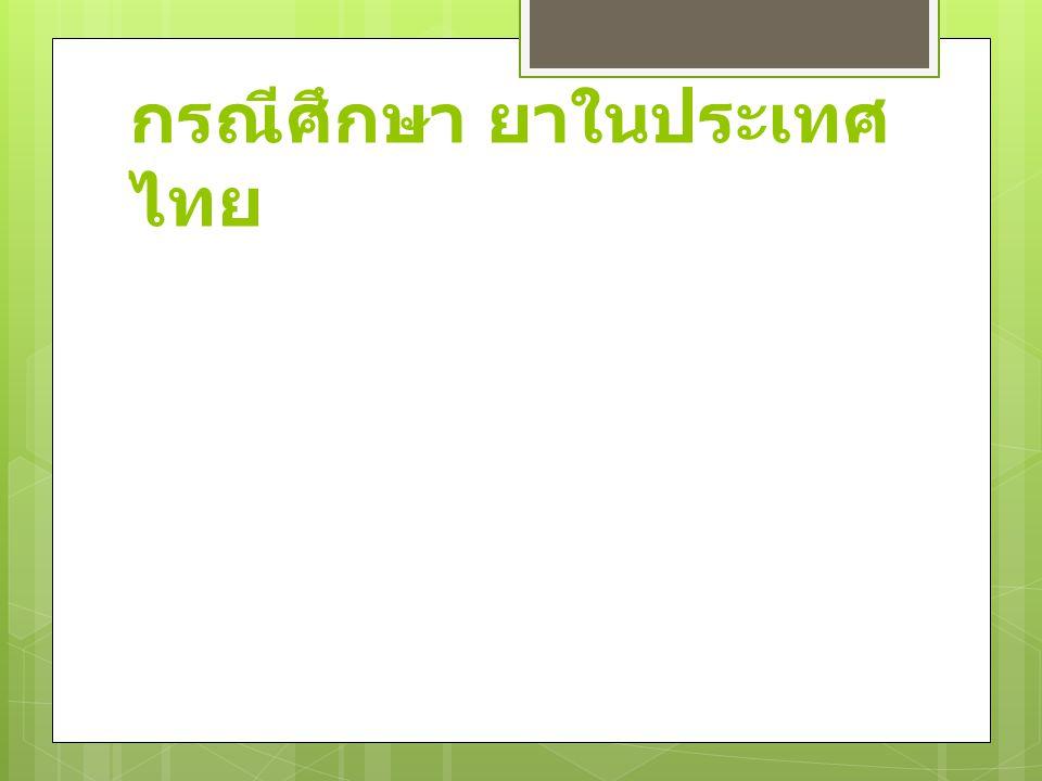 กรณีศึกษา ยาในประเทศไทย