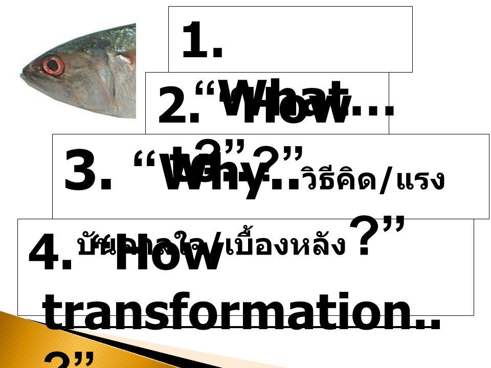 3. Why..วิธีคิด/แรงบันดาลใจ/เบื้องหลัง