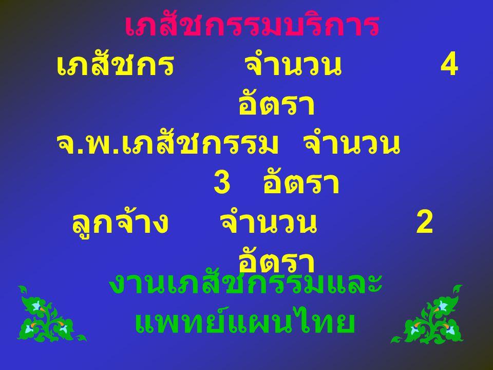 งานเภสัชกรรมและแพทย์แผนไทย