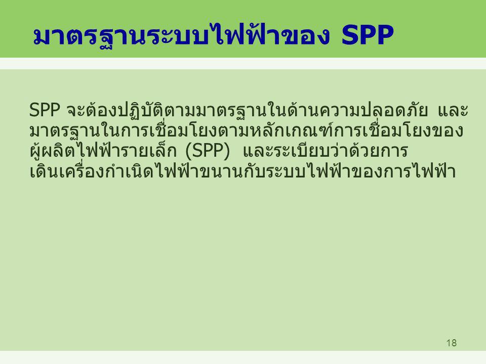 มาตรฐานระบบไฟฟ้าของ SPP
