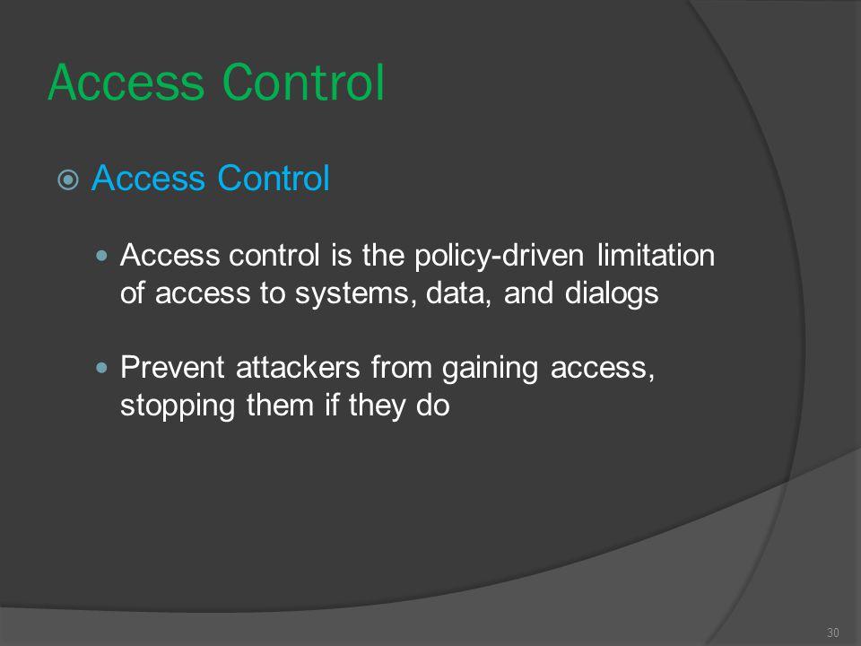 Access Control Access Control