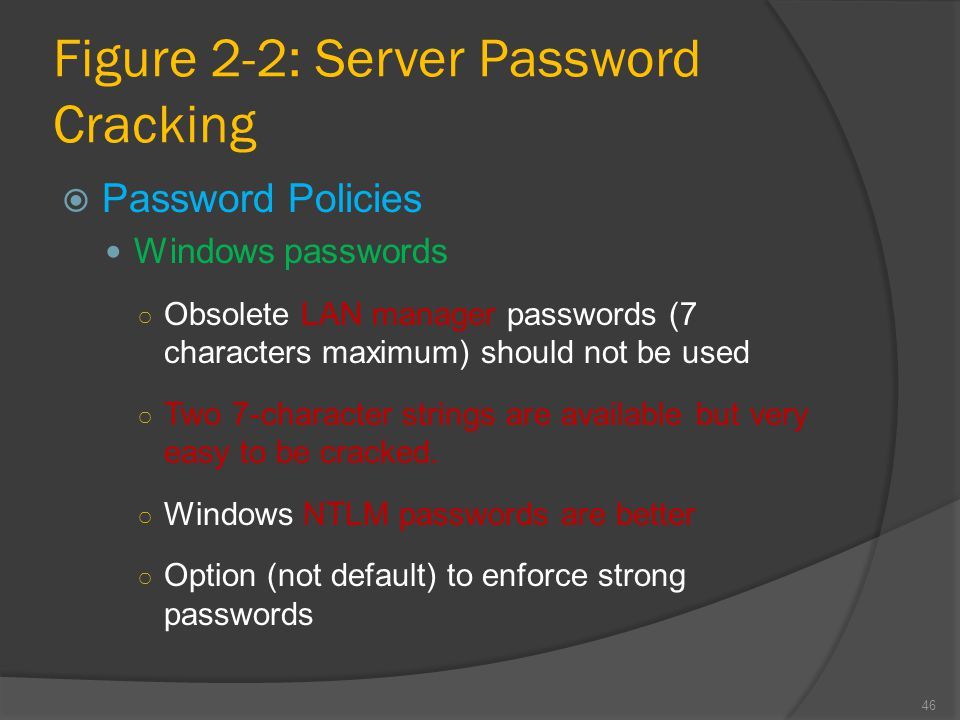 Figure 2-2: Server Password Cracking