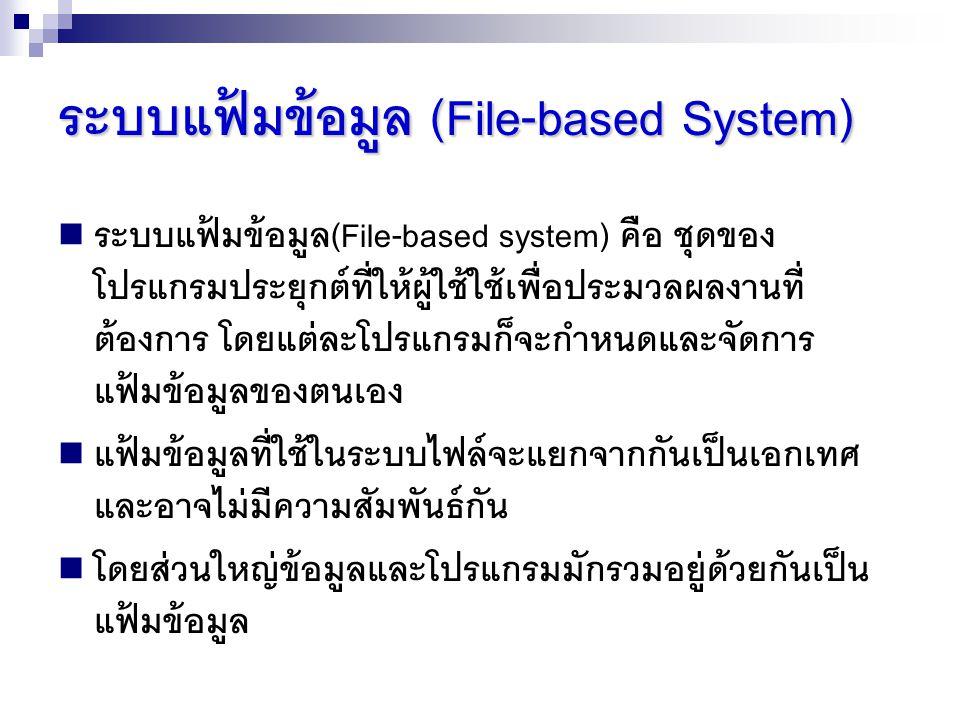ระบบแฟ้มข้อมูล (File-based System)