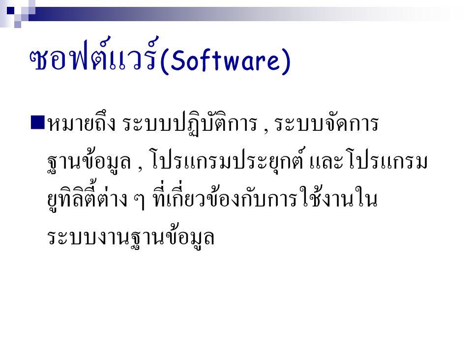 ซอฟต์แวร์(Software)