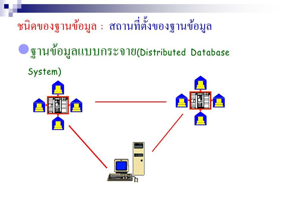 ฐานข้อมูลแบบกระจาย(Distributed Database System)