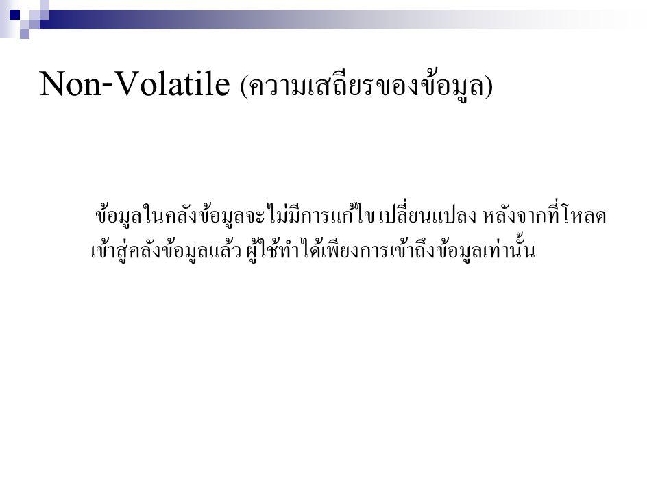 Non-Volatile (ความเสถียรของข้อมูล)