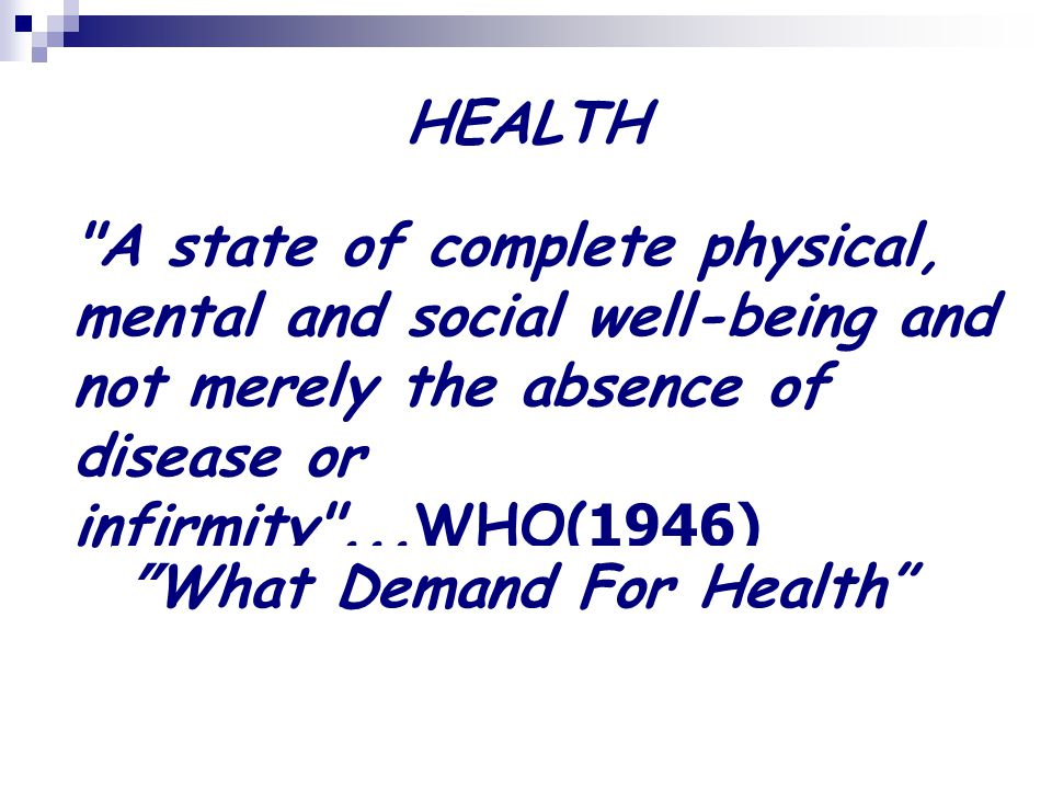 What Demand For Health