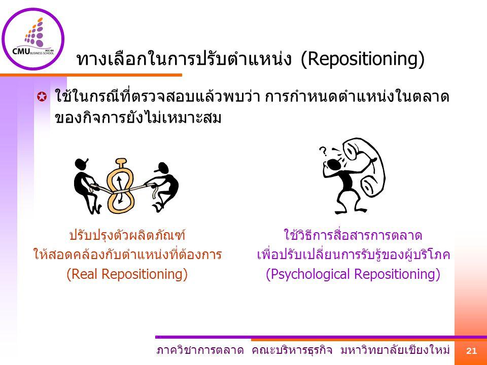 ทางเลือกในการปรับตำแหน่ง (Repositioning)
