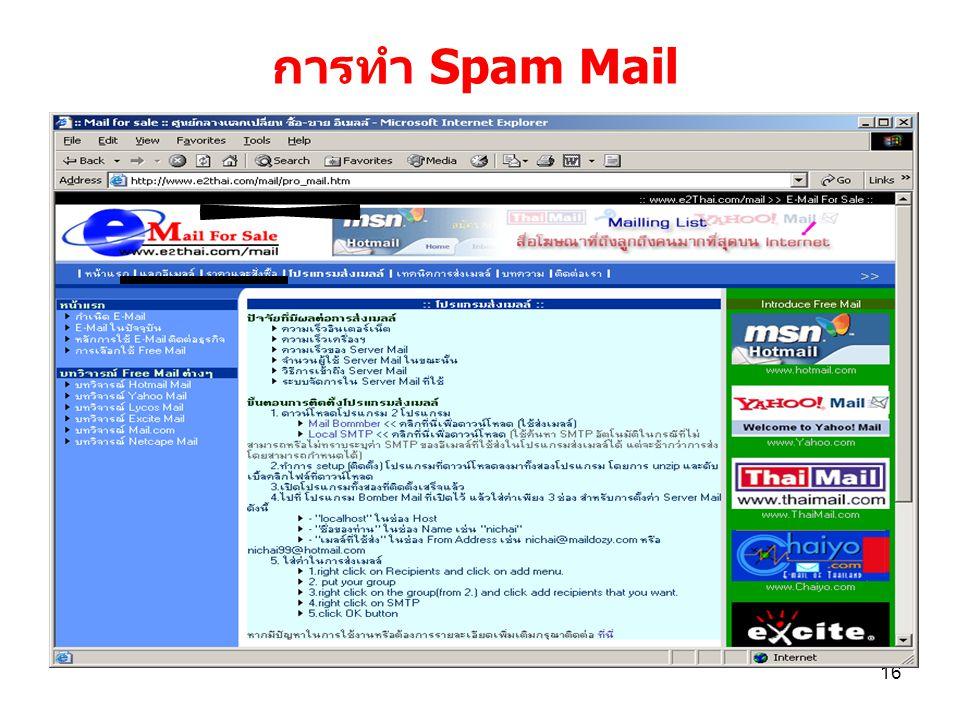 การทำ Spam Mail