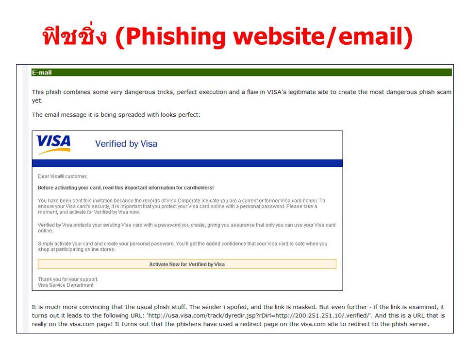 ฟิชชิ่ง (Phishing website/email)