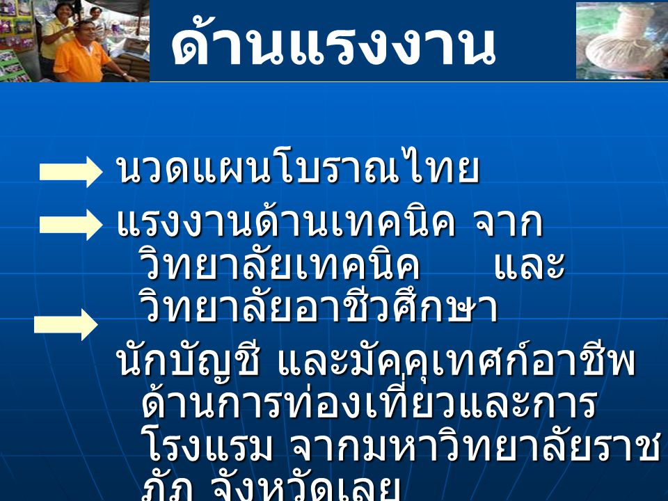ด้านแรงงาน นวดแผนโบราณไทย