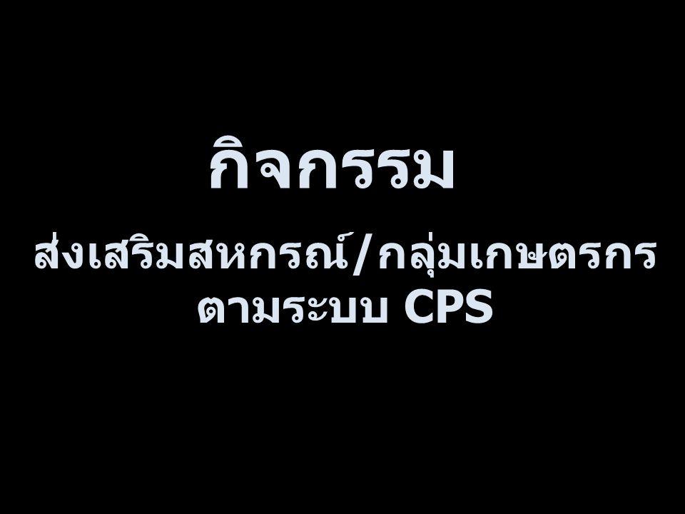 ส่งเสริมสหกรณ์/กลุ่มเกษตรกรตามระบบ CPS