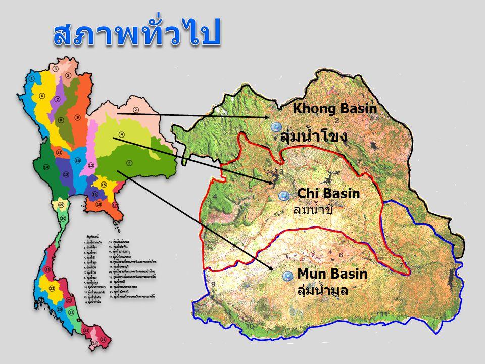 สภาพทั่วไป ลุ่มน้ำโขง Khong Basin Chi Basin ลุ่มน้ำชี