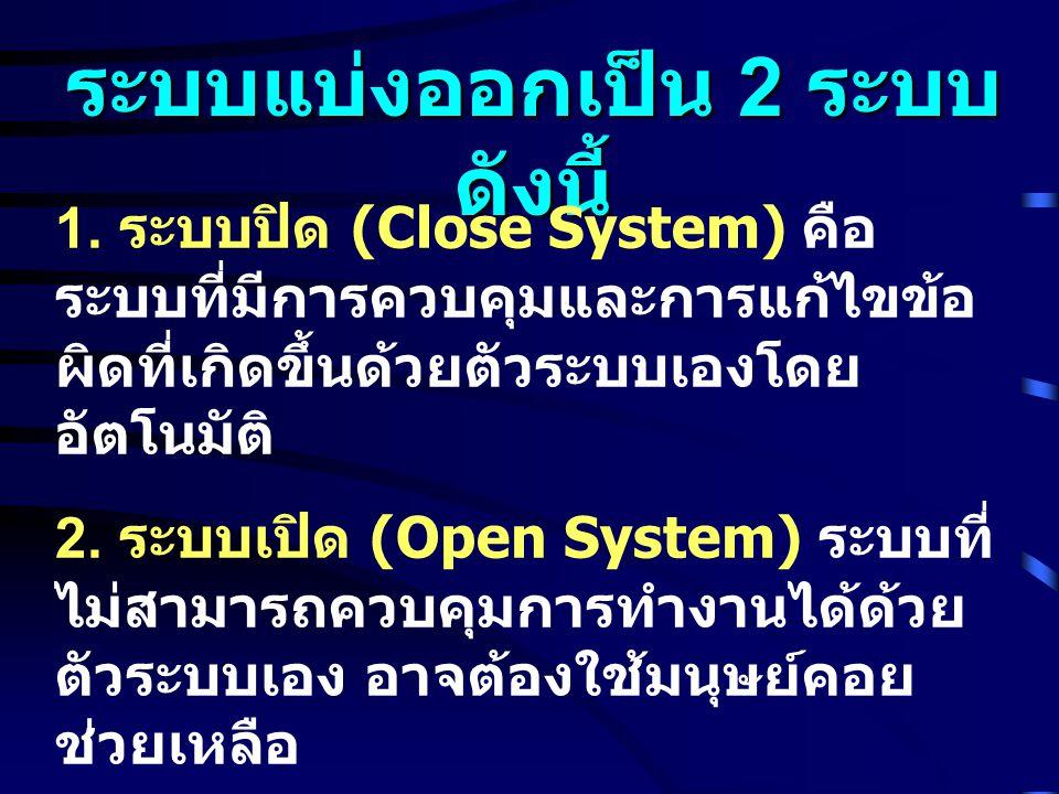 ระบบแบ่งออกเป็น 2 ระบบ ดังนี้