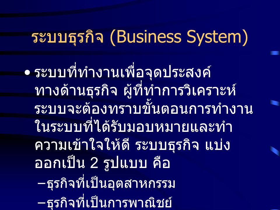 ระบบธุรกิจ (Business System)