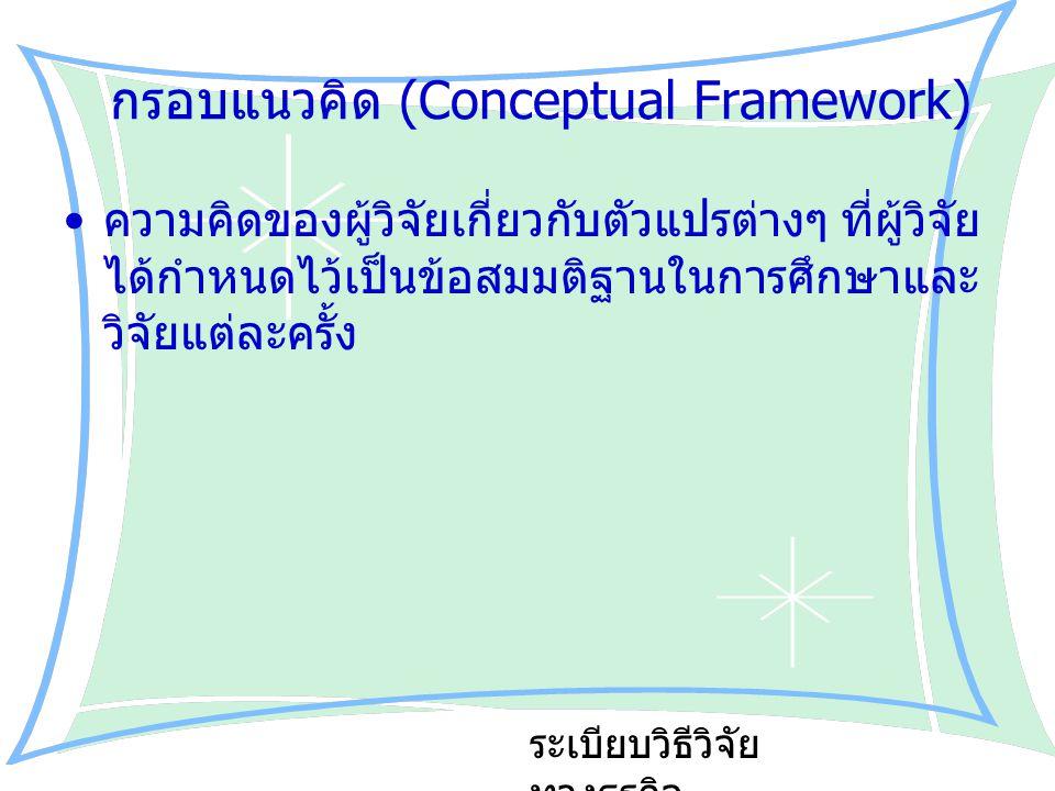 กรอบแนวคิด (Conceptual Framework)