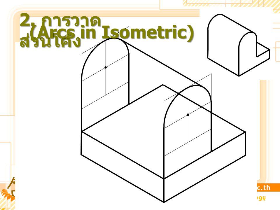 2. การวาดส่วนโค้ง (Arcs in Isometric)