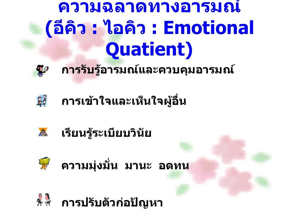 ความฉลาดทางอารมณ์ (อีคิว : ไอคิว : Emotional Quatient)