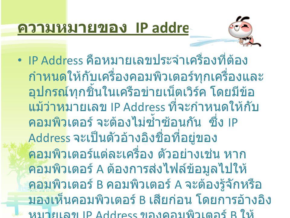ความหมายของ IP address