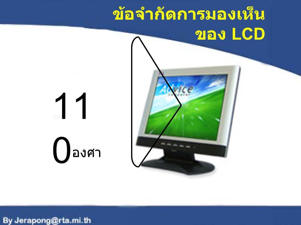 ข้อจำกัดการมองเห็นของ LCD
