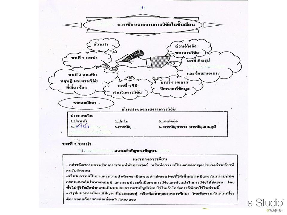 การเขียนวิจัยอย่างง่าย