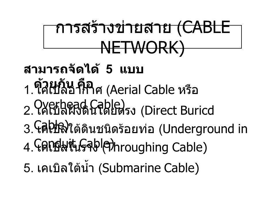 การสร้างข่ายสาย (CABLE NETWORK)