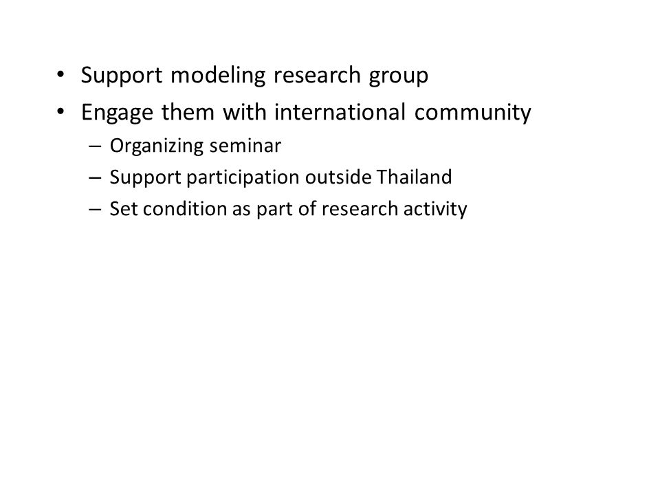 Support modeling research group