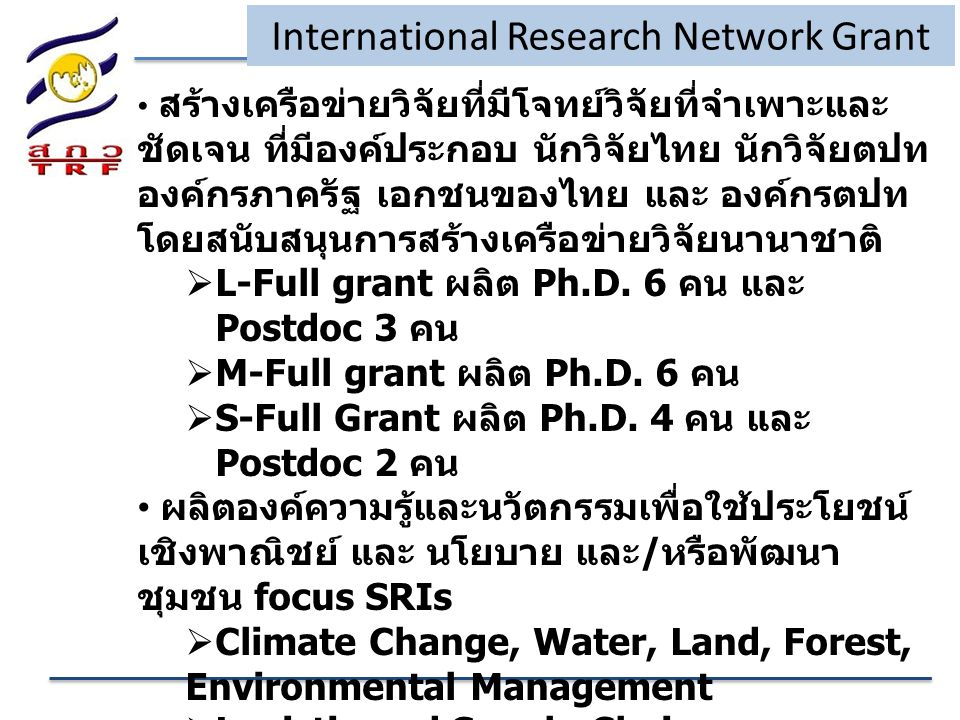 International Research Network Grant