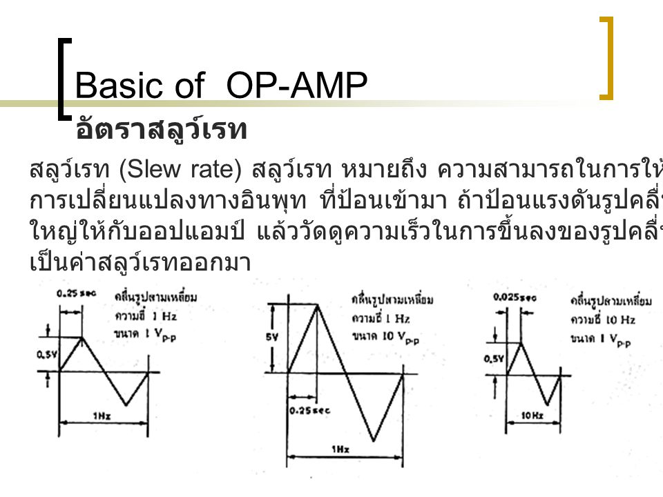 Basic of OP-AMP อัตราสลูว์เรท
