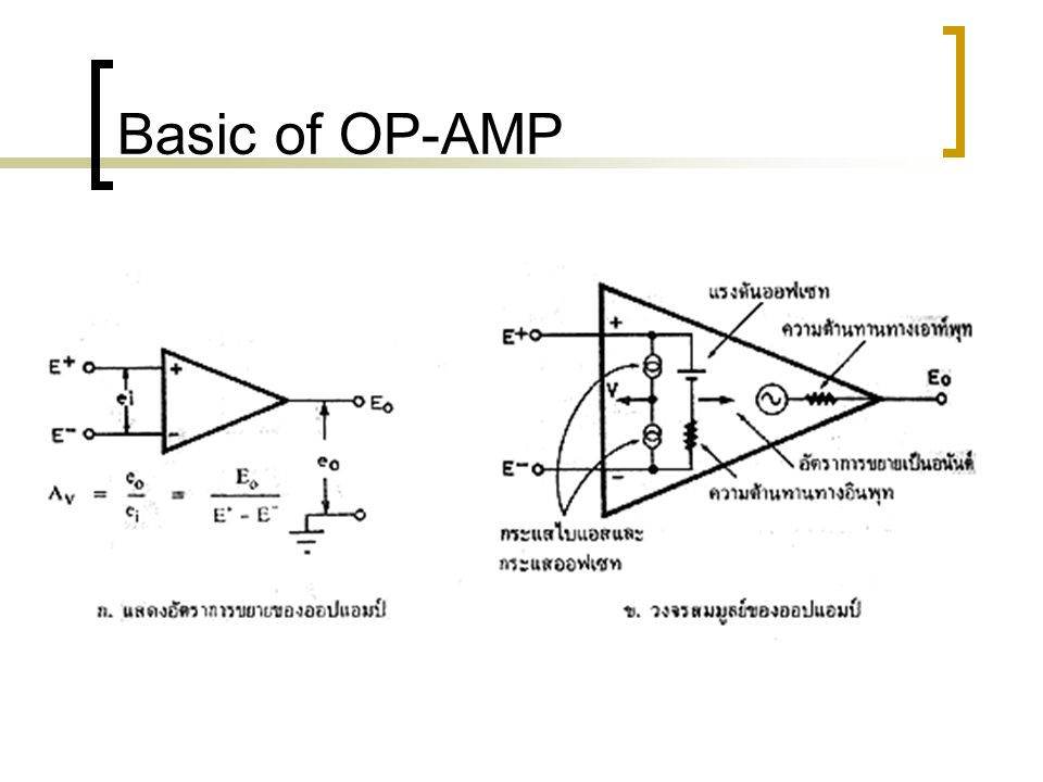Basic of OP-AMP