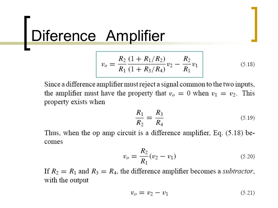 Diference Amplifier