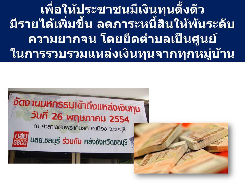 เพื่อให้ประชาชนมีเงินทุนตั้งตัว