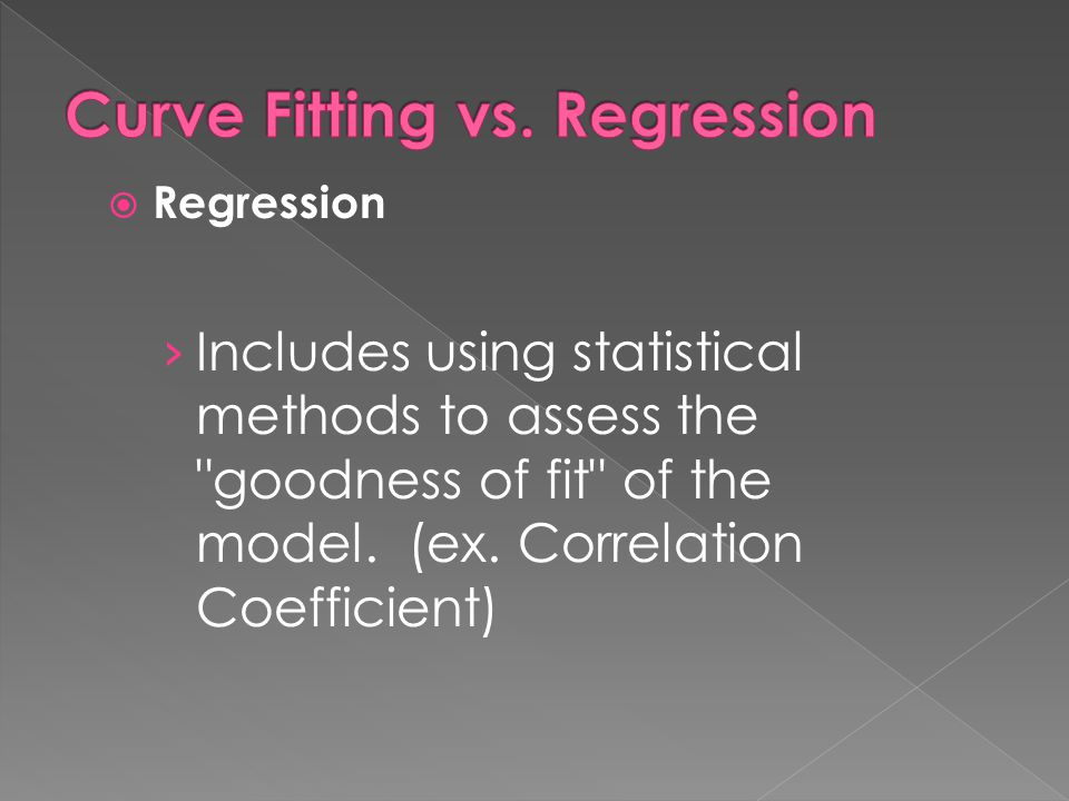 Curve Fitting vs. Regression