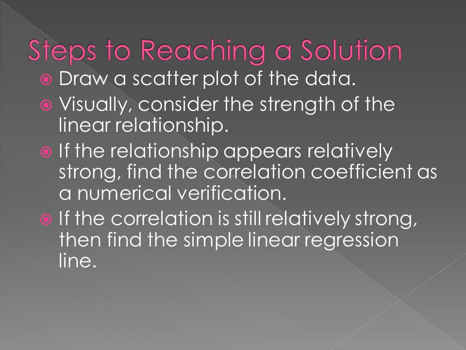 Steps to Reaching a Solution