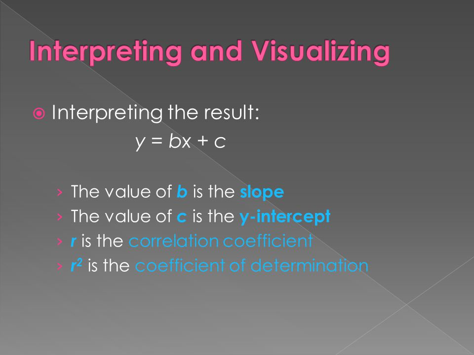 Interpreting and Visualizing