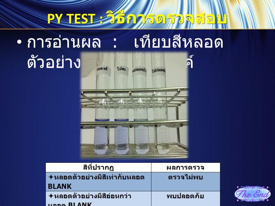 PY TEST : วิธีการตรวจสอบ