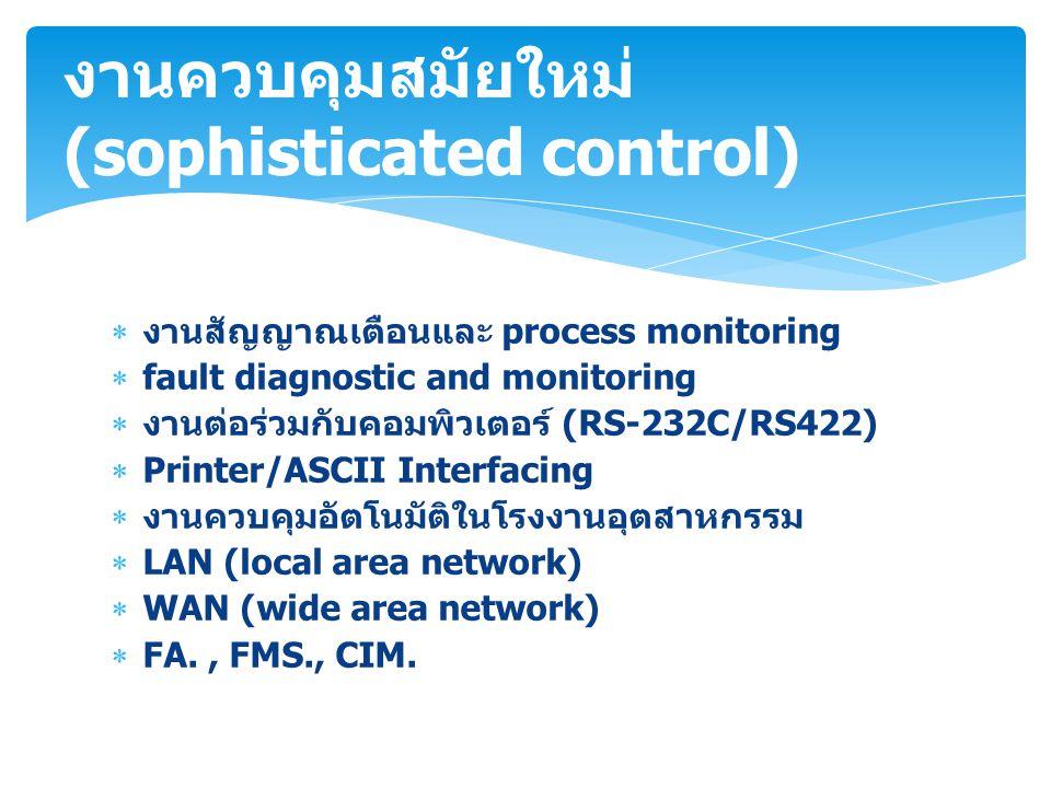 งานควบคุมสมัยใหม่ (sophisticated control)
