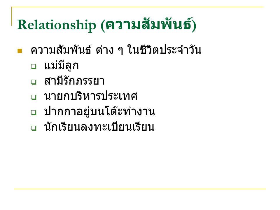 Relationship (ความสัมพันธ์)