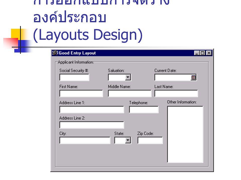 การออกแบบการจัดวางองค์ประกอบ (Layouts Design)