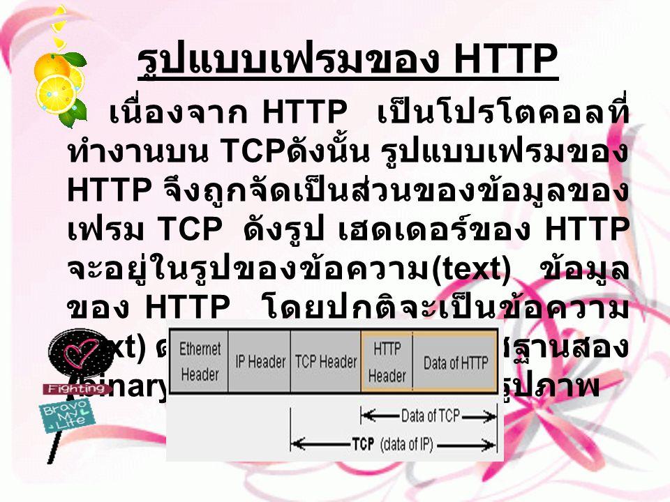รูปแบบเฟรมของ HTTP