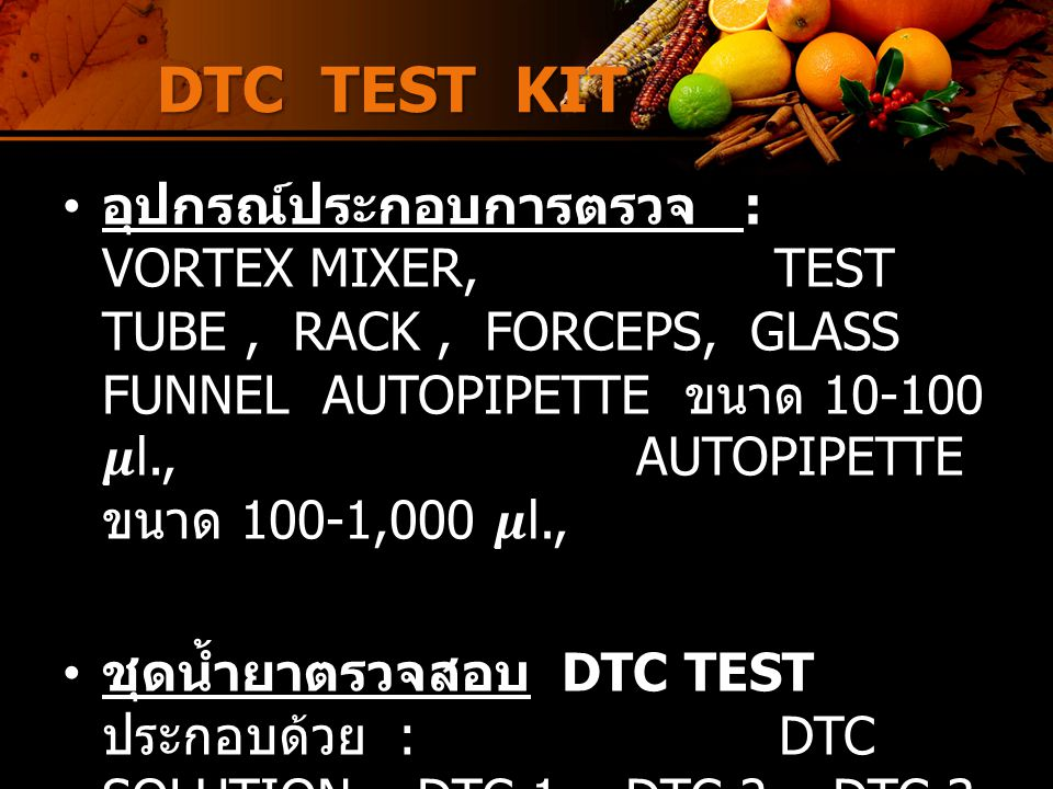 DTC TEST KIT