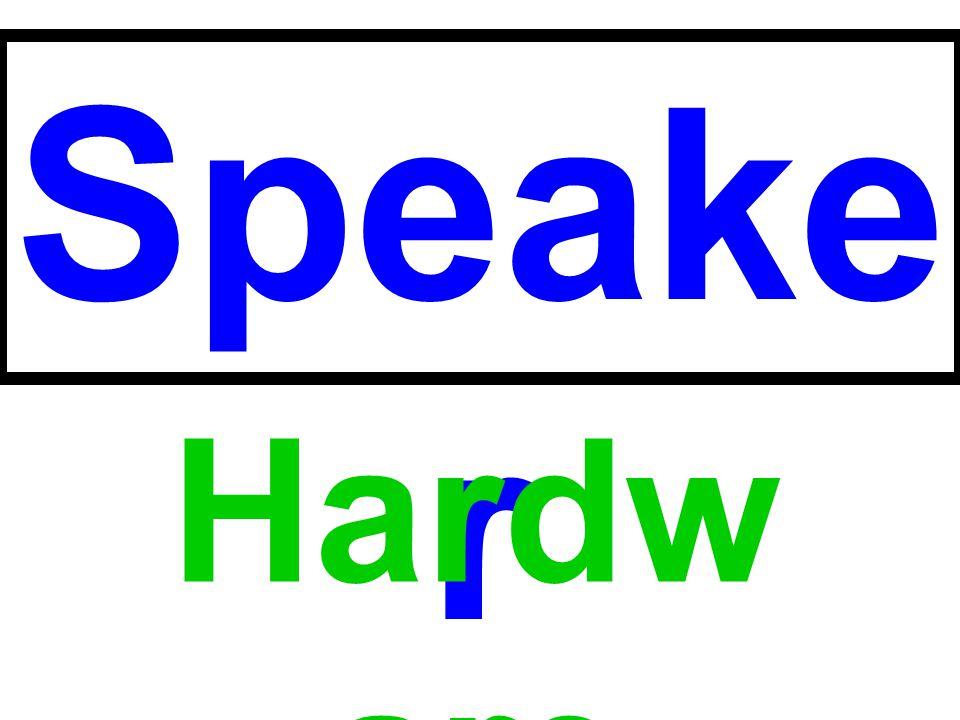 Speaker Hardware